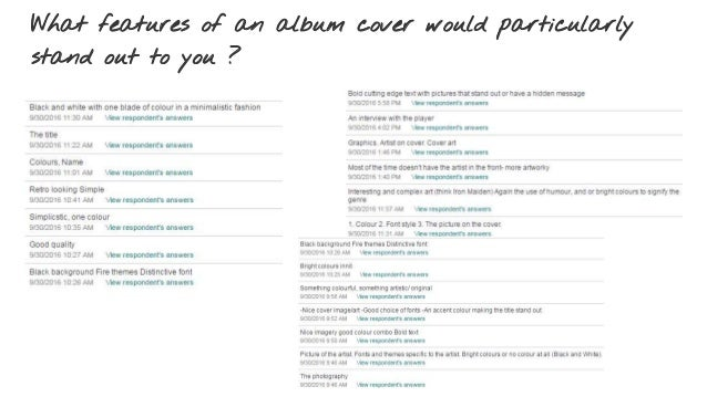 What features of an album cover would particularly stand out to you ?