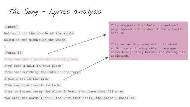 The Song - Lyrics analysis [Intro] Waking up in the middle of the woods Naked in the middle of the woods [Verse 1] I've se...