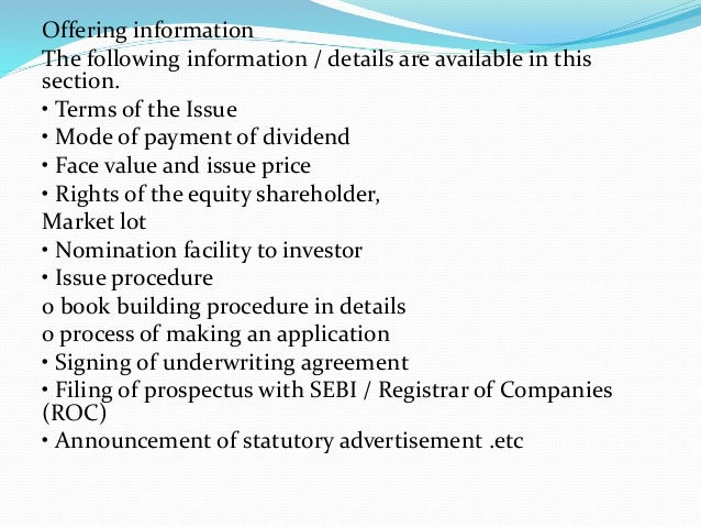 underwriting agreement section