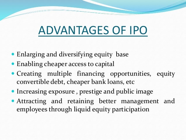 Ipo public offering manager bm