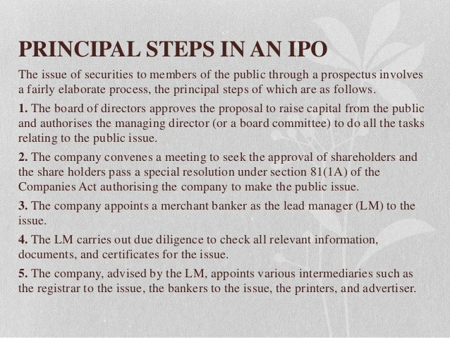 Steps of issuing ipo