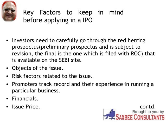 Ipo red herring prospectus