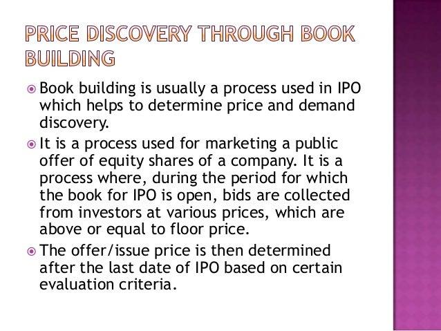 Book building ipo price