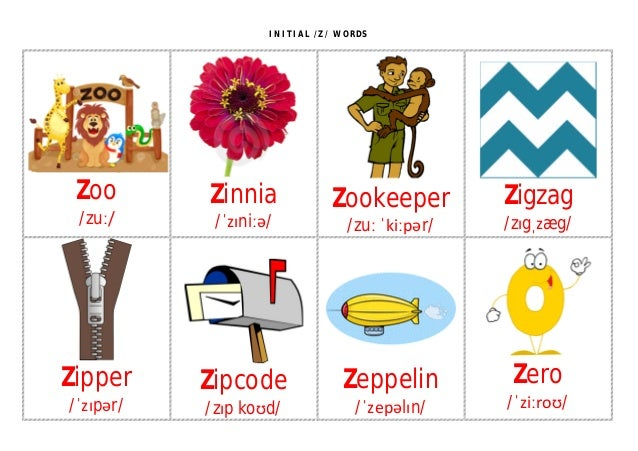 words beginning with the letter z initial z flashcards 33947