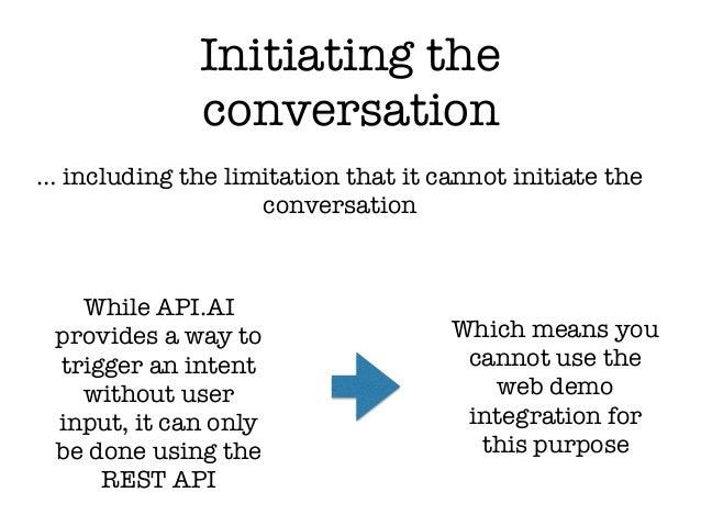 How do i initiate a conversation