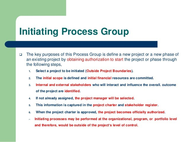 PMP Exam INITIATING Process Group - 49 PMBOK Guide ...
