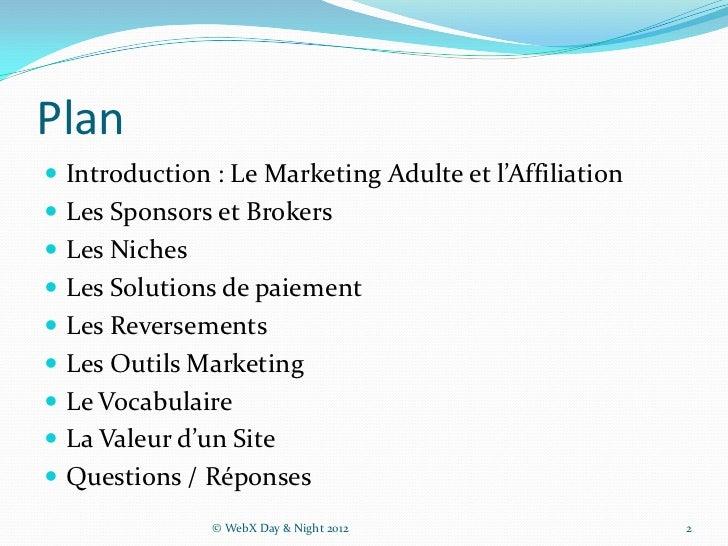 Initiation au Web Marketing Adulte Slide 2