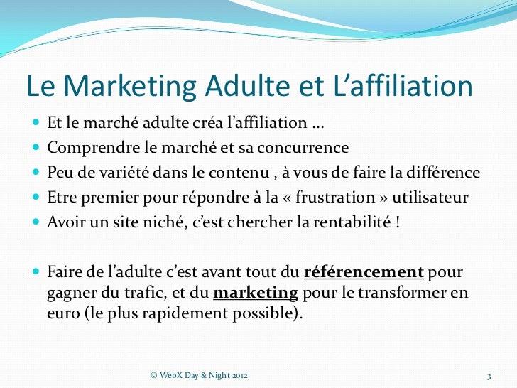 Initiation au Web Marketing Adulte Slide 3