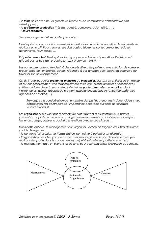 - la taille de l'entreprise (la grande entreprise a une composante administrative plusdéveloppée) ;- le système de product...