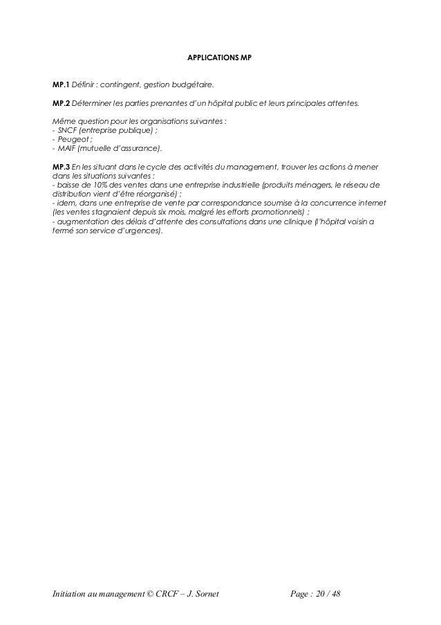 APPLICATIONS MPMP.1 Définir : contingent, gestion budgétaire.MP.2 Déterminer les parties prenantes d'un hôpital public et ...