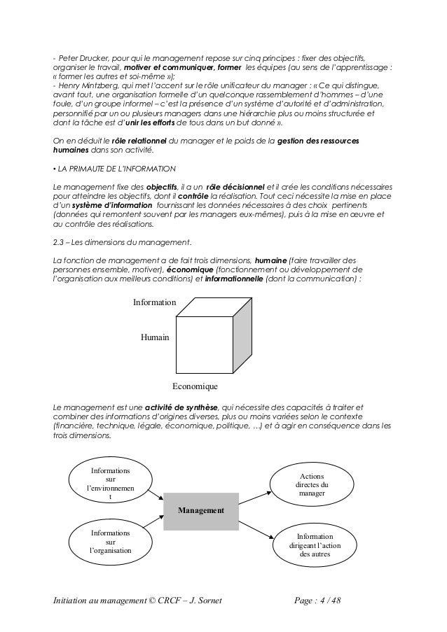 - Peter Drucker, pour qui le management repose sur cinq principes : fixer des objectifs,organiser le travail, motiver et c...