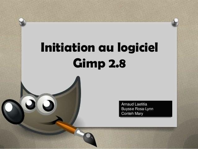 Initiation au logiciel Gimp 2.8 Arnaud Laetitia Buysse Rosa-Lynn Conteh Mary