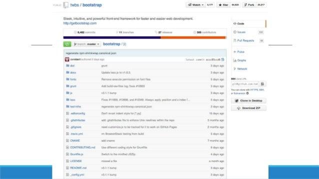GitHub for Windows Disponible sur http://windows.github.com/ Compatible avec Windows Vista, 7 et 8