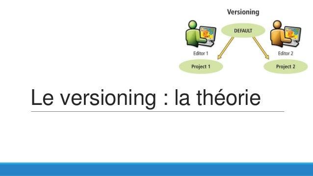 Le versioning : la théorie