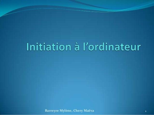 Barreyre Mylène, Chery Maëva   1