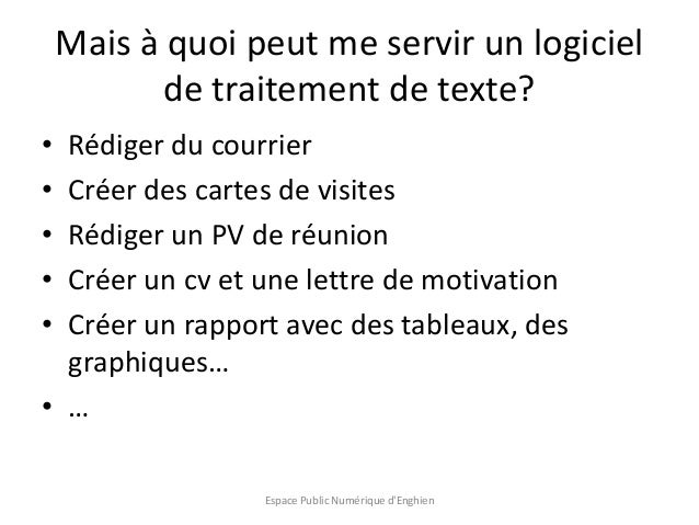 initiation au traitement de texte avec libre office writer