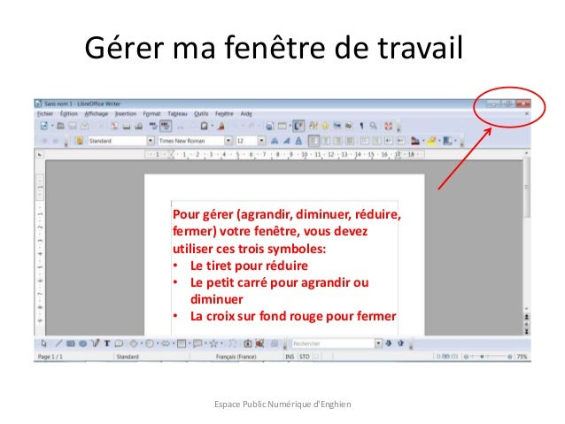 Initiation au traitement de texte avec libre office writer - Office traitement de texte ...