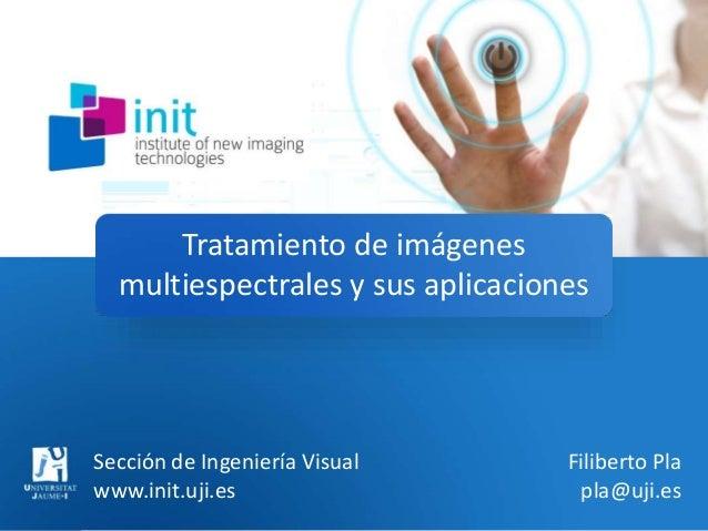 Tratamiento de imágenes multiespectrales y sus aplicaciones Sección de Ingeniería Visual www.init.uji.es Filiberto Pla pla...