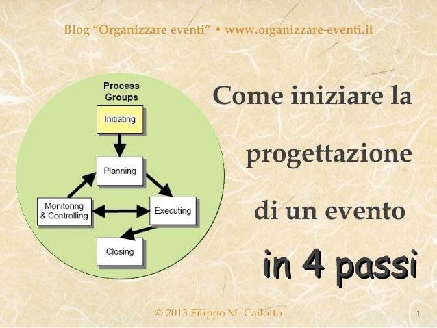 """Blog """"Organizzare eventi"""" • www.organizzare-eventi.it                          Come iniziare la                           ..."""