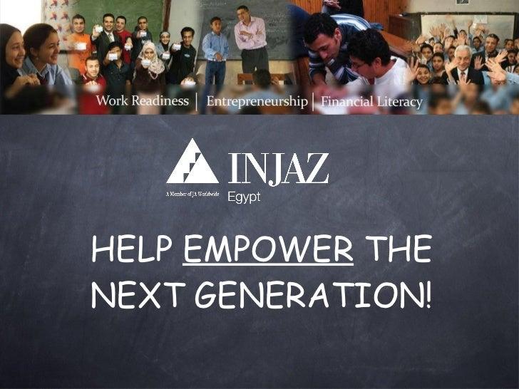 HELP  EMPOWER  THE NEXT GENERATION!