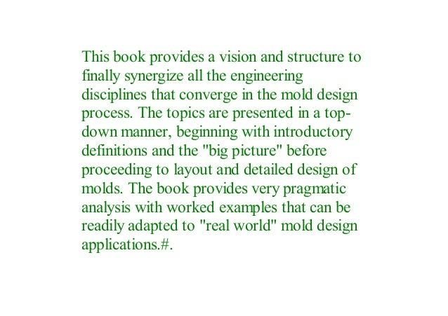 Pdf Injection Mold Design Engineering By Visit Amazon S David Kazme