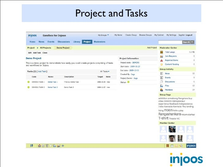 Project and Tasks