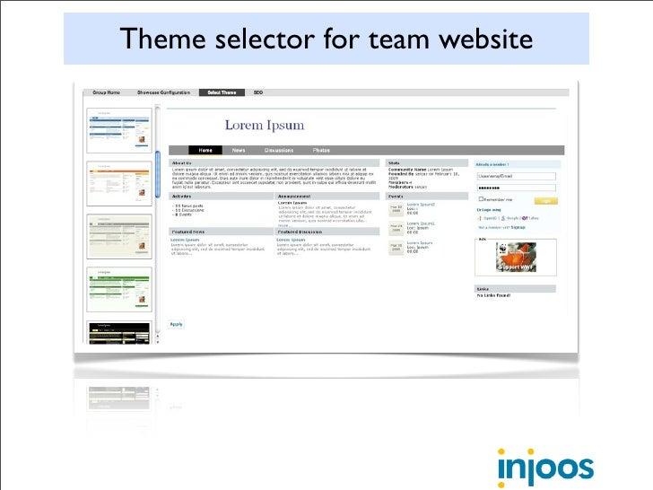 Theme selector for team website