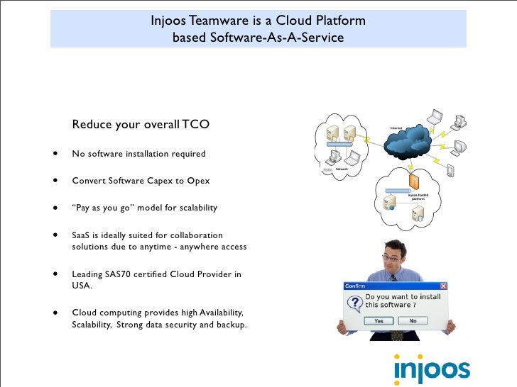 Injoos Teamware is a Cloud Platform                             based Software-As-A-Service         Reduce your overall TC...