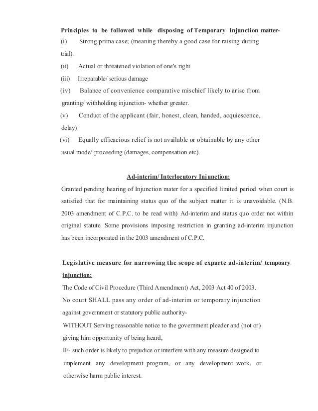 mandatory injunction example