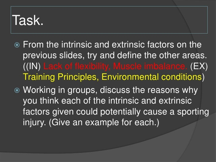 Intrinsic and Extrinsic Limiting Factors