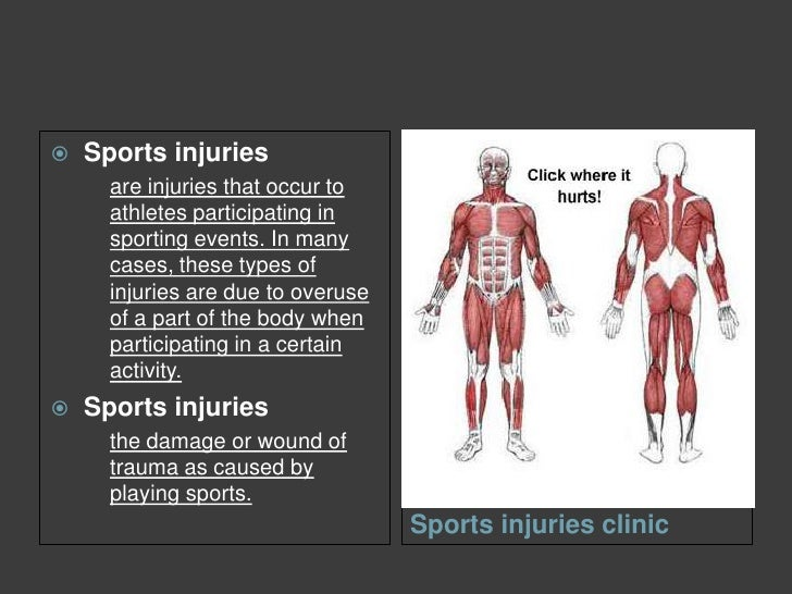 Injuries Associated With Sports Participation