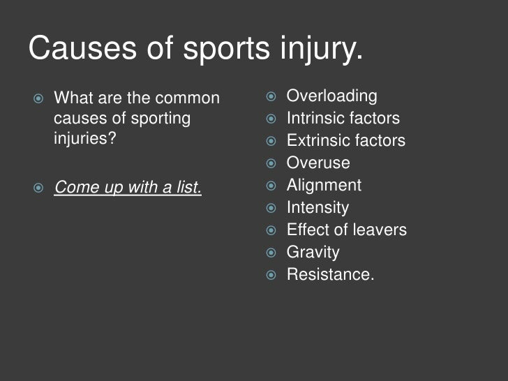 the many factors that could cause injuries in athletics and how to avoid them Sports injuries: how to prevent them by stephen pincock how to avoid injury most sports injuries are avoidable but inappropriate, ill-fitting or worn-out shoes can cause a variety of problems here's what to consider.