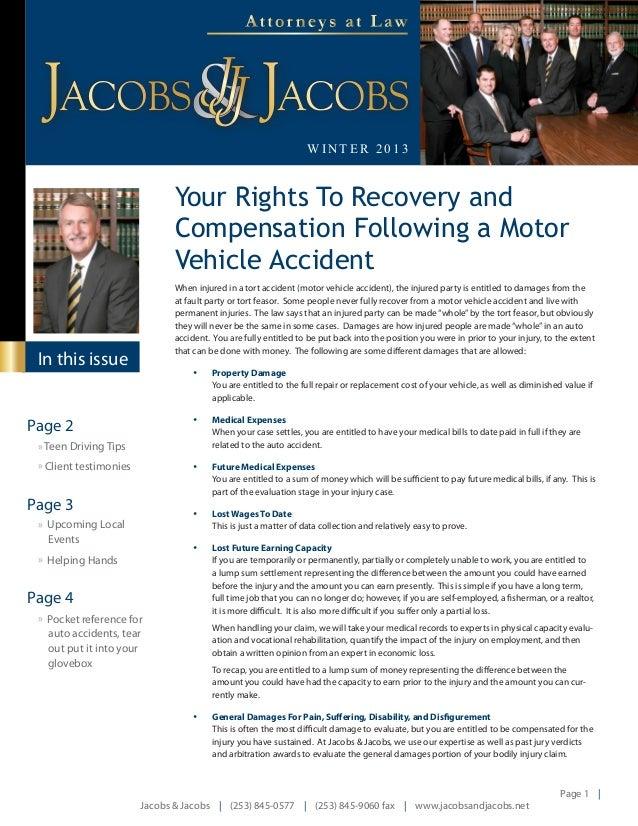 Injury Attorney Puyallup Newsletter Winter 2013
