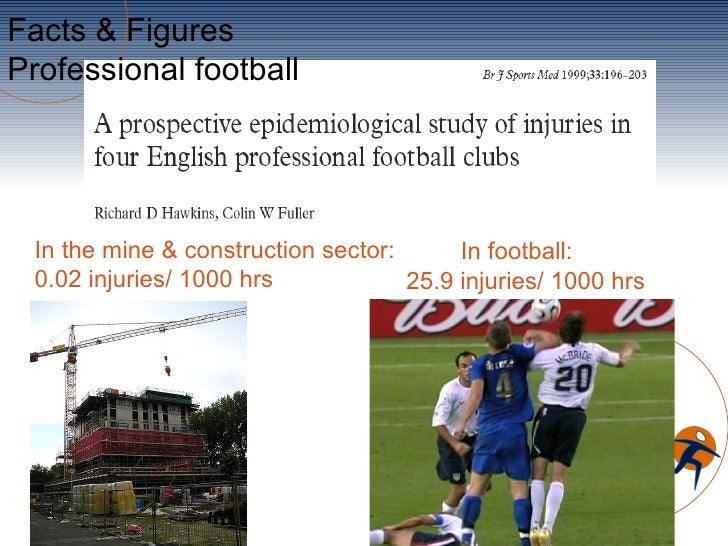 Facts & FiguresProfessional football In the mine & construction sector:      In football: 0.02 injuries/ 1000 hrs         ...