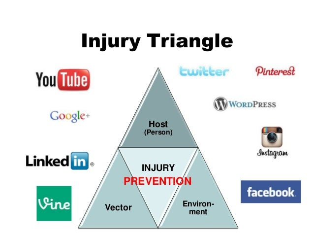Injury Triangle Host (Person) Vector INJURY Environ- ment PREVENTION