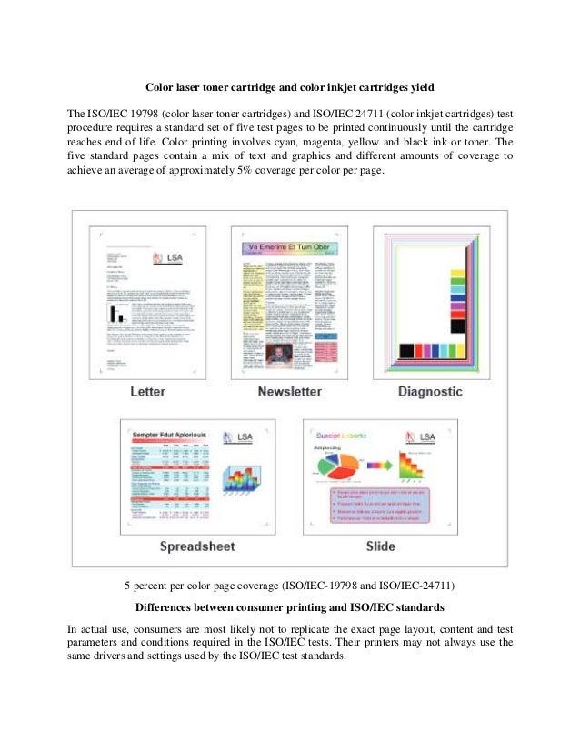 color laser toner cartridge and color inkjet