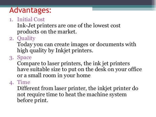 Ink jet and thermal printers