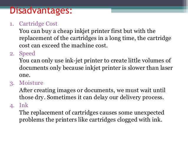 Advantages And Disadvantages Of Thermal Printer