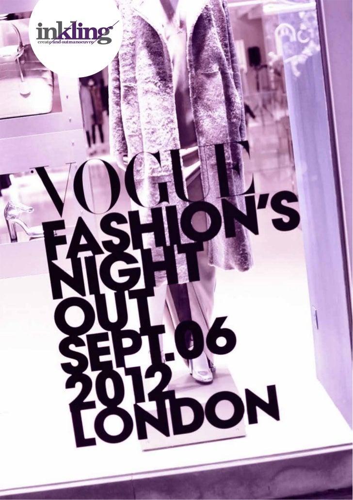 Vogue Fashion's Night Out : London : 2012   1