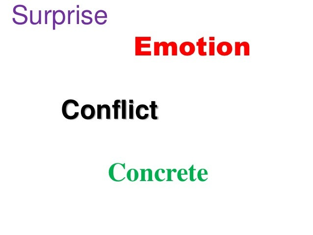 Surprise           Emotion    Conflict       Concrete