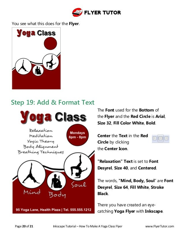 Inkscape Beginner Tutorial: How to Make a Yoga Class Flyer