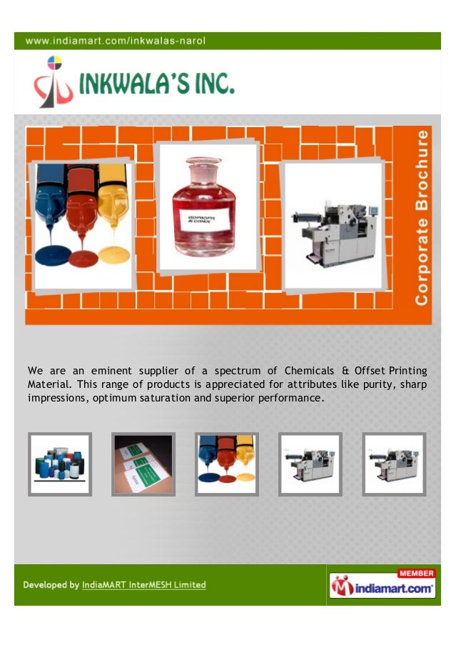 We are an eminent supplier of a spectrum of Chemicals & Offset PrintingMaterial. This range of products is appreciated for...