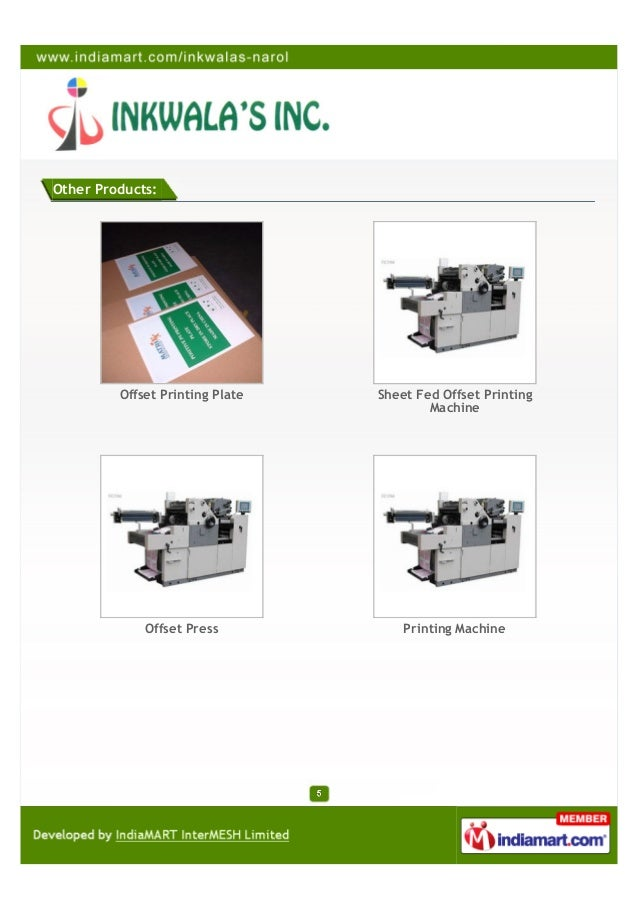 Other Products:         Offset Printing Plate   Sheet Fed Offset Printing                                         Machine ...