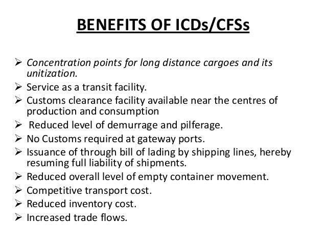 inland container depot Local and foreign exporters who will use the upgraded inland container depot in  nairobi for the transportation of goods will be given 50 per.