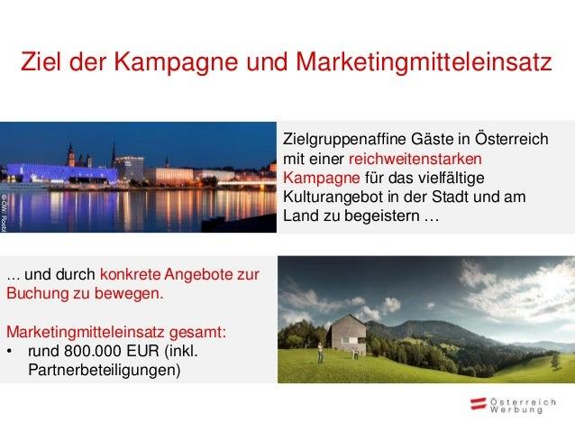 Ziel der Kampagne und Marketingmitteleinsatz                                              Zielgruppenaffine Gäste in Öster...