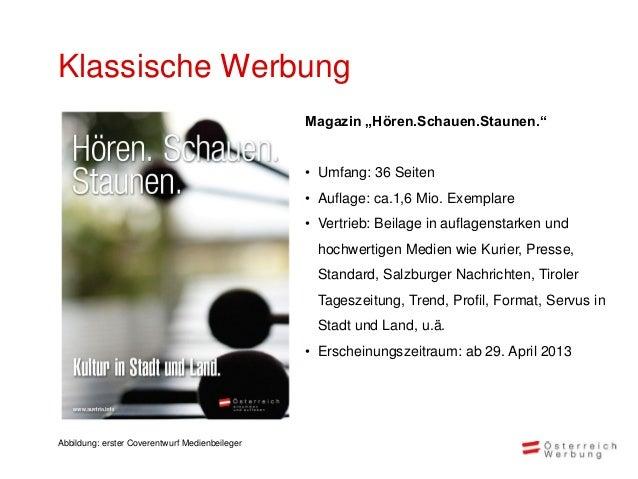 """Klassische Werbung                                                Magazin """"Hören.Schauen.Staunen.""""                        ..."""