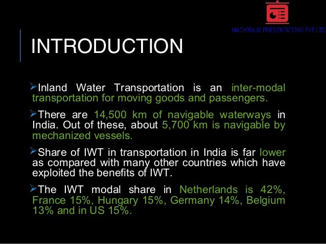 Inland Waterway Transportation (IWT) in INDIA