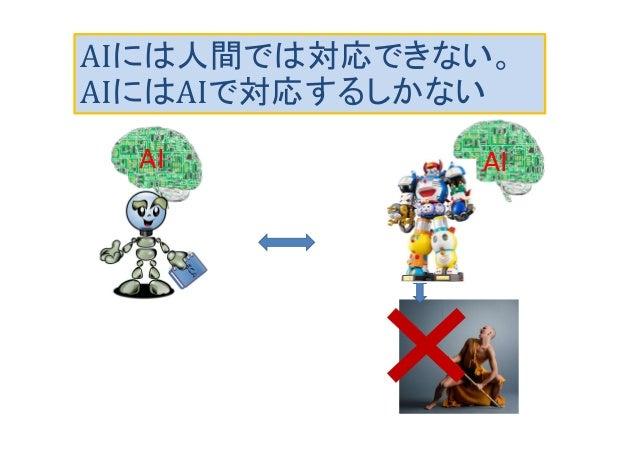 AIには人間では対応できない。 AIにはAIで対応するしかない AIAI