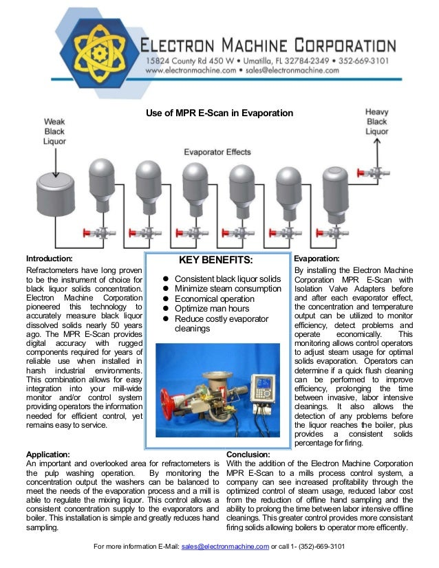 For more information E-Mail: sales@electronmachine.com or call 1- (352)-669-3101 Use of MPR E-Scan in Evaporation Introduc...