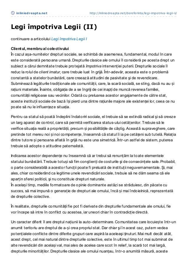 inliniedreapt a.net                            http://inliniedreapta.net/dereferinta/legi-impotriva-legii-ii/Legi împotriv...
